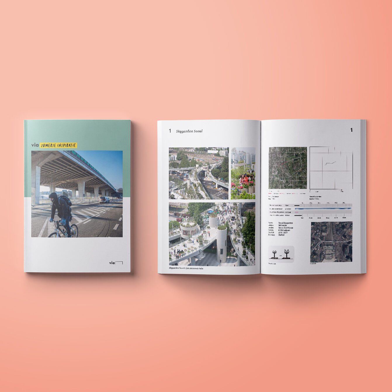 een foto van de cover en de paginas over de skygarden seoul