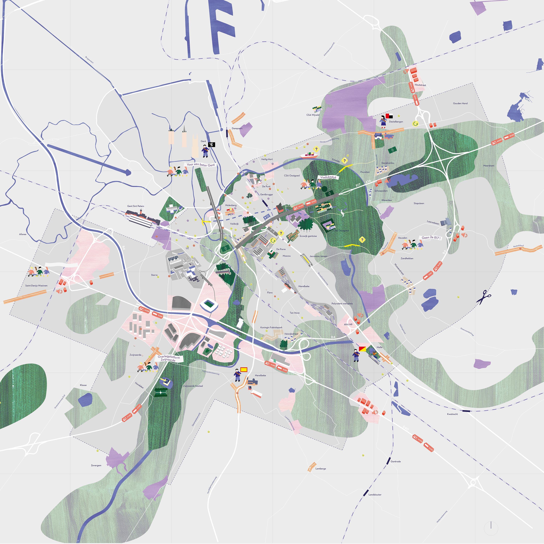Kaart Gentbrugge